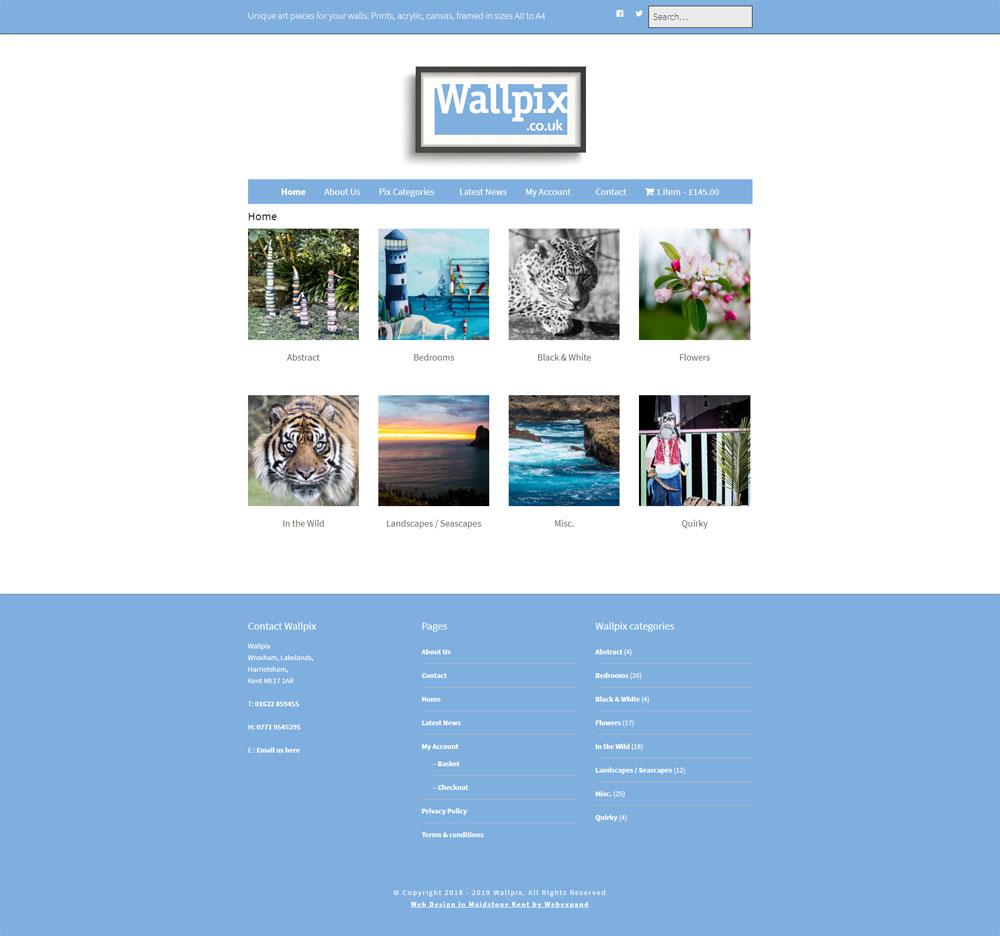 Wallpix website preview